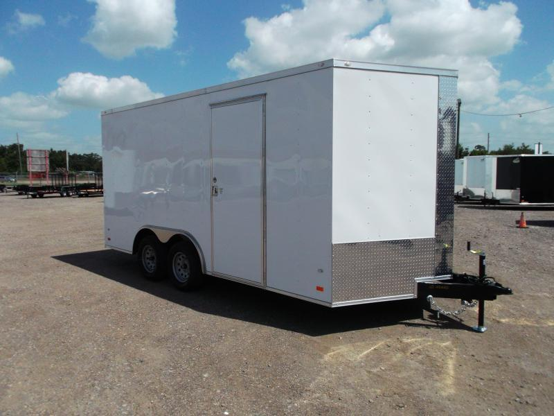 2020 Covered Wagon Trailers 8.5x16 Tandem Axle Cargo / Enclosed Trailer / 7ft Interior / Ramp / RV Side Door / LEDs
