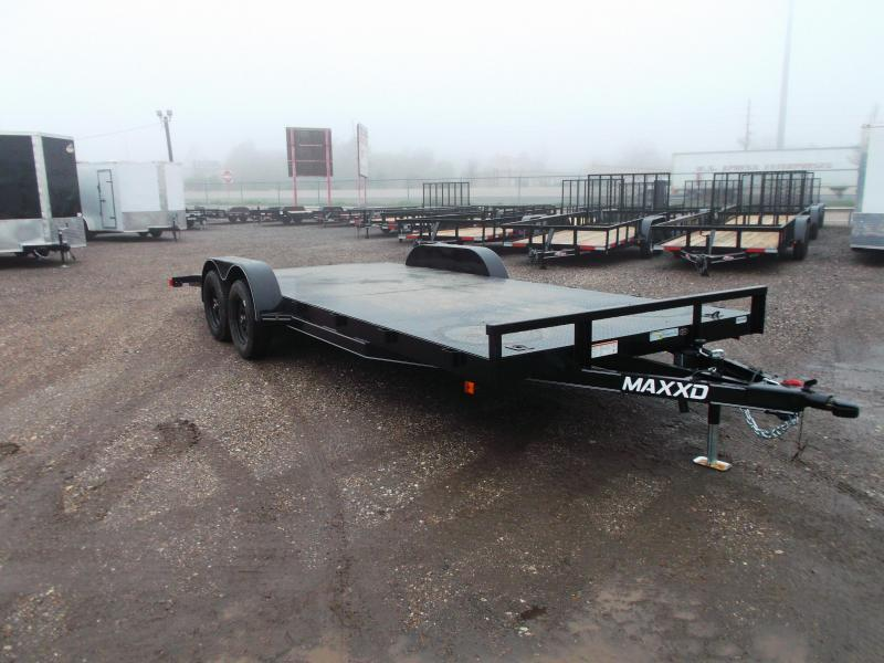 2020 Maxxd 83x20 Steel Deck Car Hauler / Racing Trailer / Powder Coated / 5ft Ramps / 4ft Dovetail