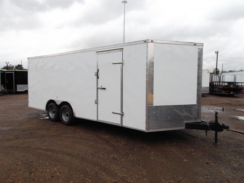 2020 Texas Select 8.5x20 Tandem Axle Cargo Trailer / Car Hauler / 5200# Axles / 7ft Interior Height / Heavy Duty Ramp / LEDs