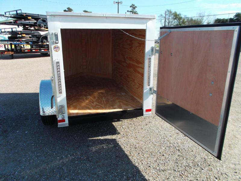 2020 Covered Wagon Trailers 4x6 Single Axle Cargo Trailer / Enclosed Trailer / LEDs / Radials / 1 Piece Roof