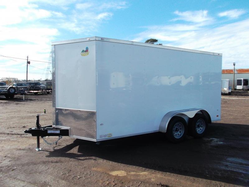 2020 Covered Wagon Trailers 7x14 Tandem Axle Cargo Trailer / Enclosed Trailer / Ramp / RV Side Door / LEDs