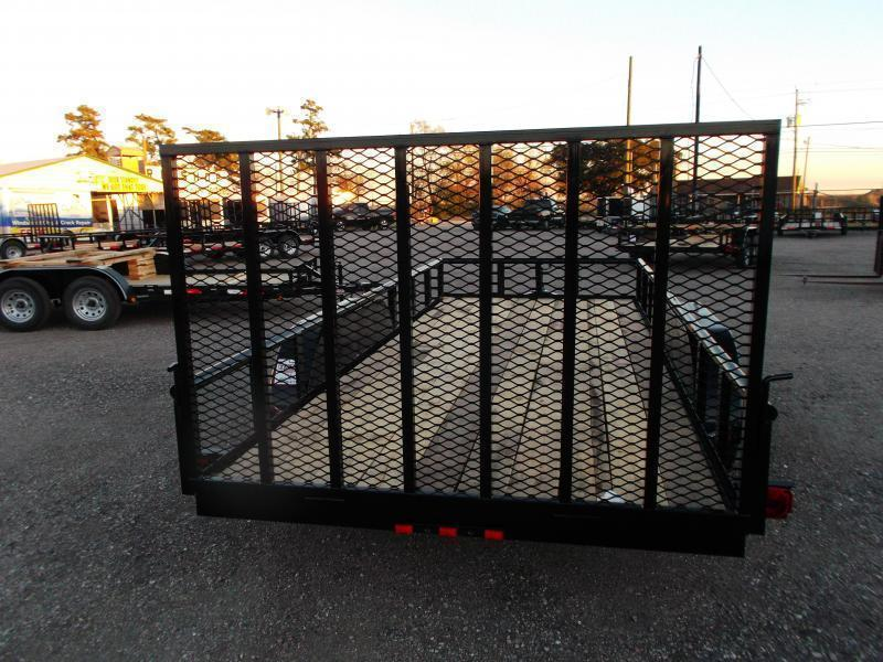 2020 Longhorn Trailers 16ft Utility Trailer / Pipetop / 4ft Ramp Gate / Electric Brakes