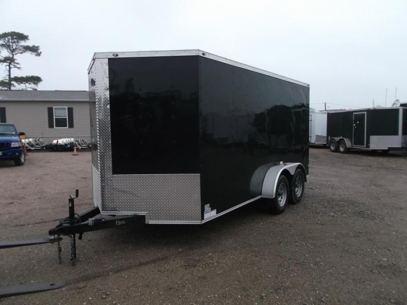"2019 Texas Select 7x14 Tandem Axle Cargo Trailer / Enclosed Trailer / Ramp / 6'6"" Interior / Side Door / LEDs"