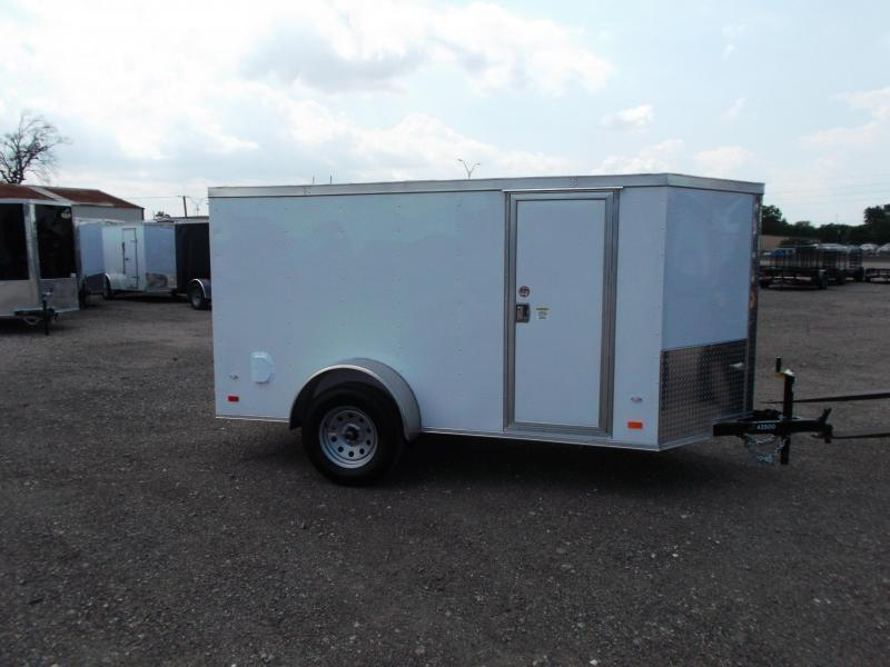 SPECIAL - 2020 Covered Wagon 5x10 Single Axle Cargo Trailer / Enclosed Trailer / Ramp / RV Side Door / LEDs / BLACK