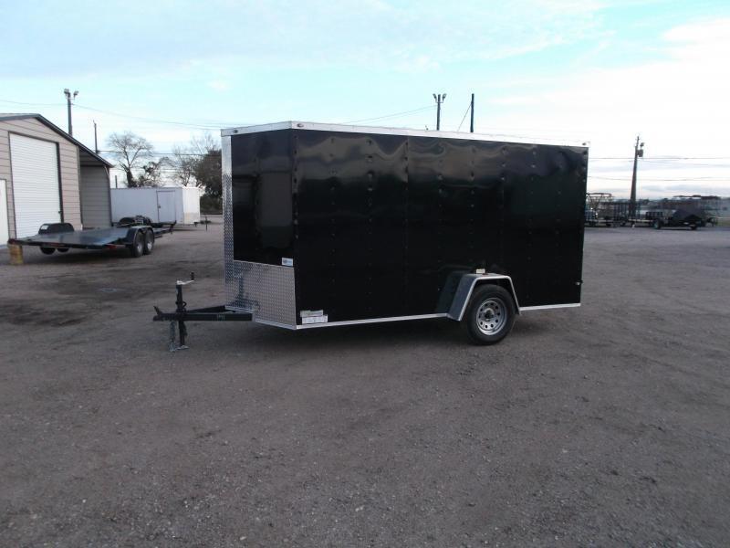 "SPECIAL - 2019 Texas Select 6x12 Single Axle Cargo Trailer / Enclosed Trailer / 6'3"" Interior / Ramp / Side Door / LEDs"