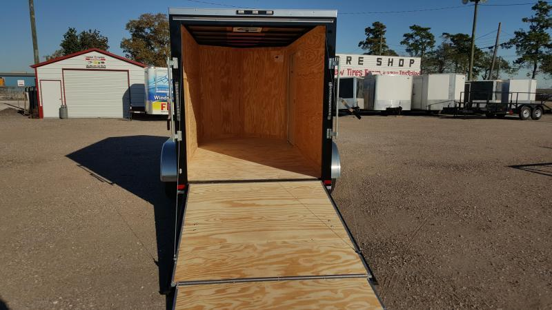 SPECIAL - 2019 Covered Wagon Trailers 6x12 Tandem Axle Cargo Trailer / Enclosed Trailer / Ramp / RV Side Door / LEDs