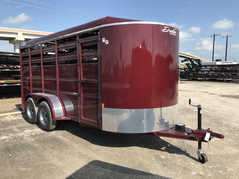 2020 Delta Manufacturing 6 x 16 Livestock Trailer