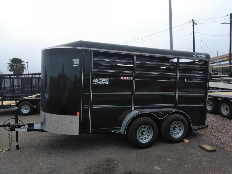 2020 Delta Manufacturing 6X16 Horse Trailer