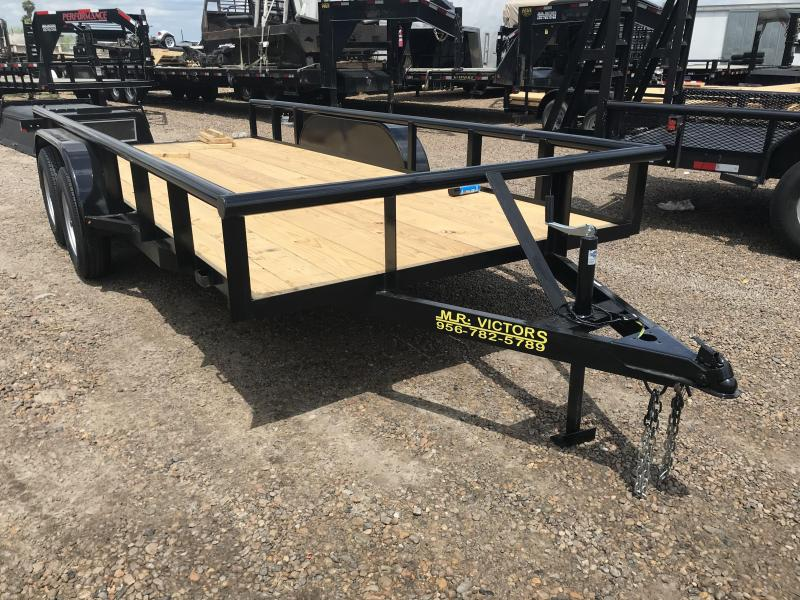 2019 MR VICTORS 76X16 PIPE TOP UTILITY TRAILER