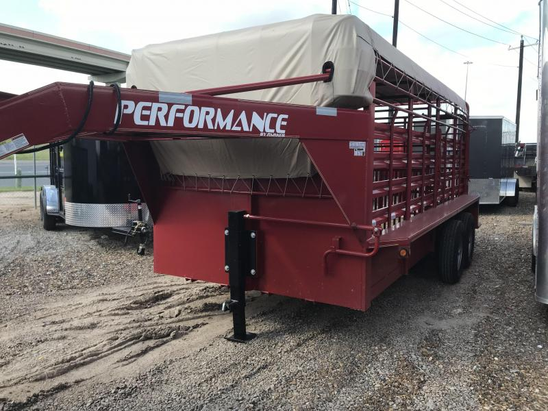 2019 Performance Trailers 80 X 16 Livestock Trailer