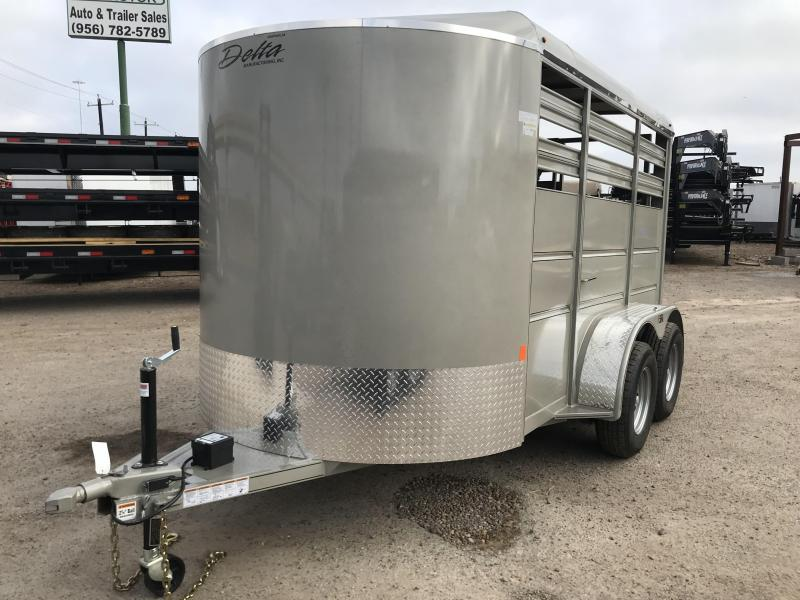 2019 DELTA 6X12 CATTLE STOCK TRAILER