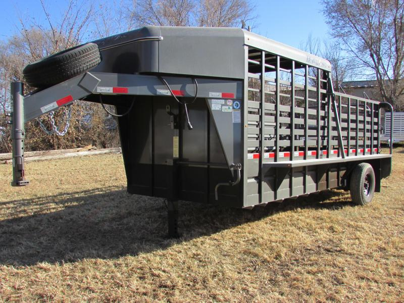 2018 Travalong 16' 1/2 TOP Livestock Trailer
