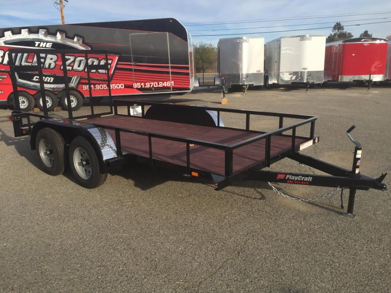 2019 Playcraft Light Utility 77x14 Utility Trailer