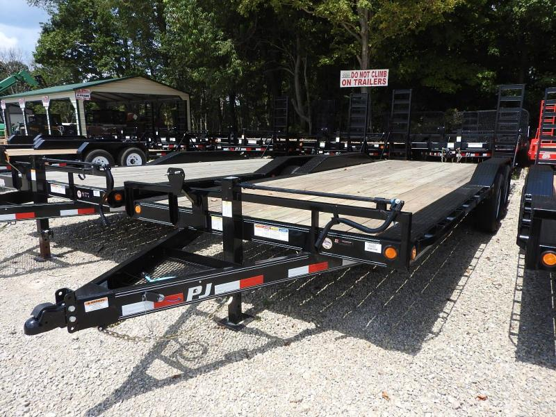 "2020 PJ B6 22' x 102"" Stand Up Ramps 14000 GVW Equipment Trailer"