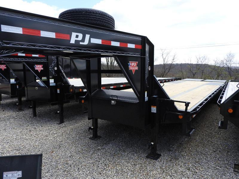 "2020 PJ LD 102"" x 32 w/ Monster Ramps Flatbed Trailer"