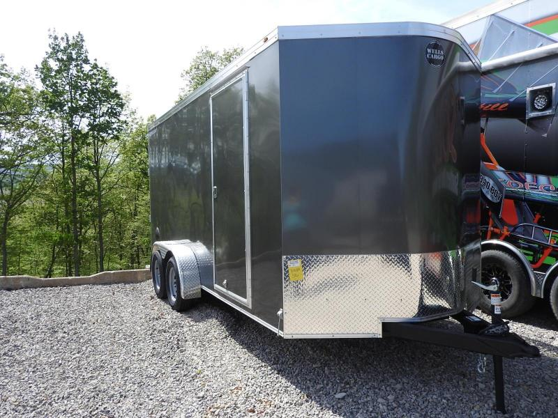 "2020 Wells Cargo Road Force V-Nose 7x16 6"" Extra Height Enclosed Cargo Trailer"