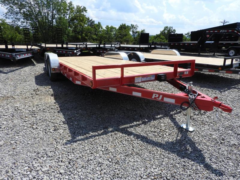 "2020 PJ C5 20' x 83"" Trailer 7000 GVW Slide In Ramps STM S&D"