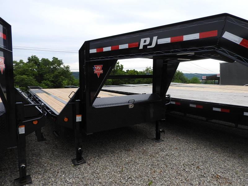 "2019 PJ LS 102"" x 25' w/ 2 Flip Over Ramps Equipment Trailer"
