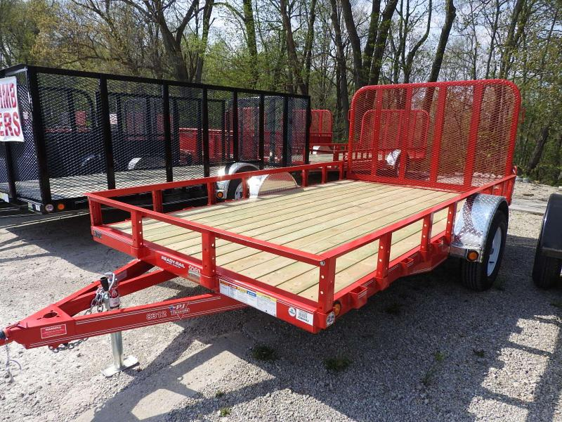 "2020 PJ U8 12' x 83"" Utility Trailer Ramp Gate S&D"
