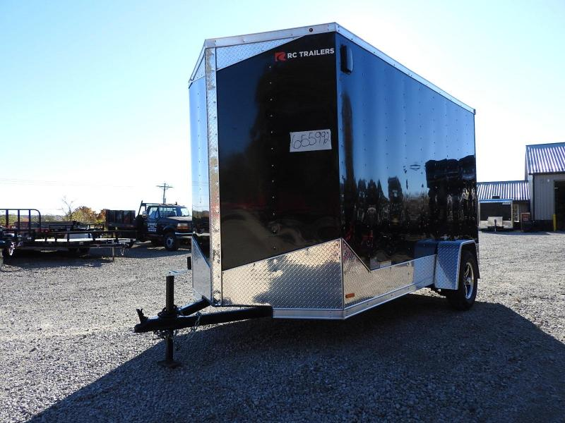 """2020 RC Trailers RDLX 6 x 12 w/ 6"""" Extra Height Enclosed Cargo Trailer"""