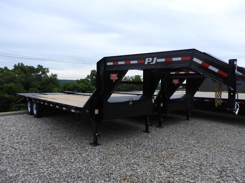 "2019 PJ LS 102"" x 25' w/ Monster Ramps Equipment Trailer"