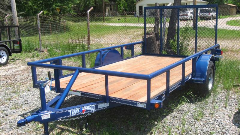 "2018 Texas Bragg Trailers 6 x 12 (77"" wide) Pipe top Utility Trailer"