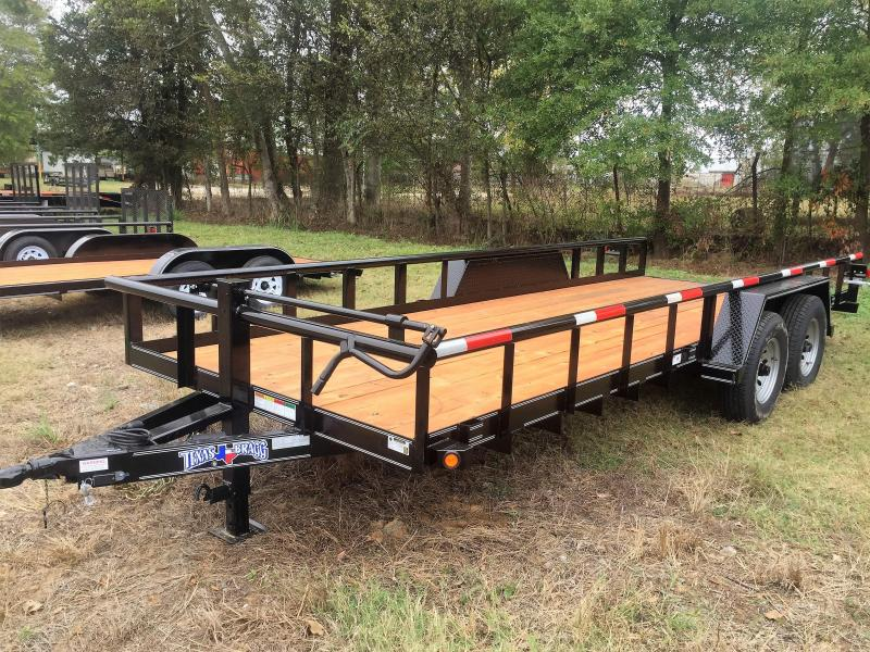 "2017 Texas Bragg Trailers 20'X83"" Big Pipe Top Tandem Axle"