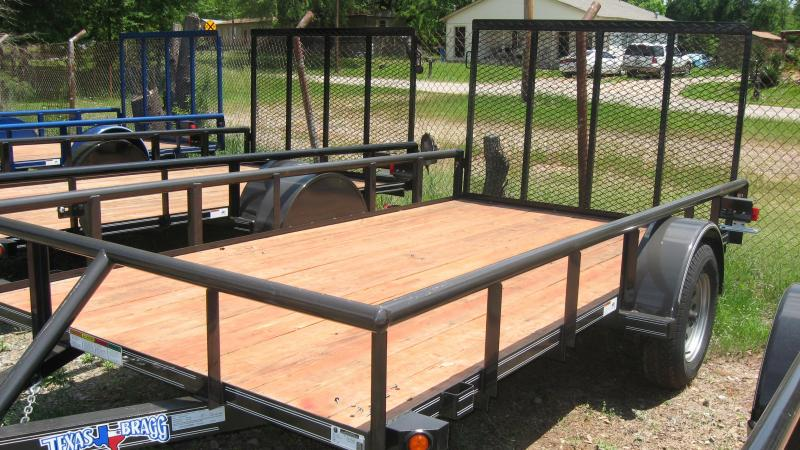 """2018 Texas Bragg Trailers 6 x 12 (77"""" Wide) Pipe Top Utility Trailer"""