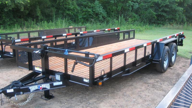 2018 Texas Bragg Trailers 20 BIG SQUARE TUBING TOP Utility Trailer
