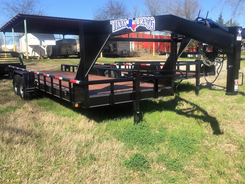 "2017 Texas Bragg Trailers 24'X83"" Big Pipe Top Gooseneck Tandem Axle"