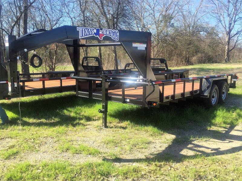 "2017 Texas Bragg Trailers 20'X83"" Big Pipe Top Gooseneck Tandem Axle"