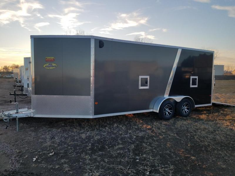 2019 Alcom-Stealth C18' + 4' V-Front Snowmobile Trailer