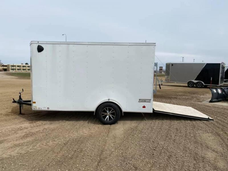 "NEW HAULMARK ENCLOSED TRAILER 6X12 ALUM. WHEELS 6'6"" HEIGHT"