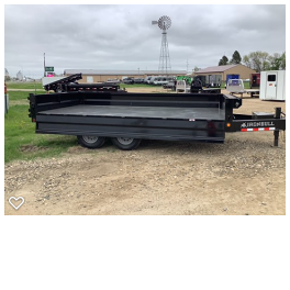 2020 Iron Bull 96x16 Deckover  Dump Trailer
