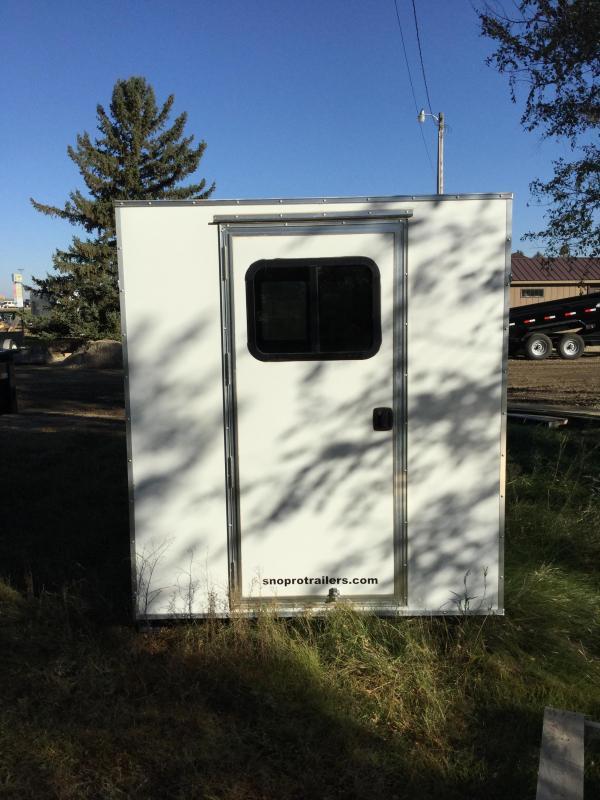 2019 Alcom-Stealth 6x10 Skid House Ice/Fish House Trailer