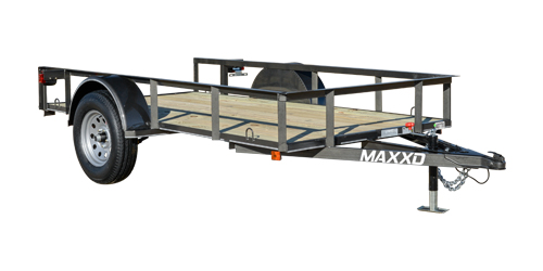 MAXXD S2M - White Series Angle Single Axle Utility Trailer