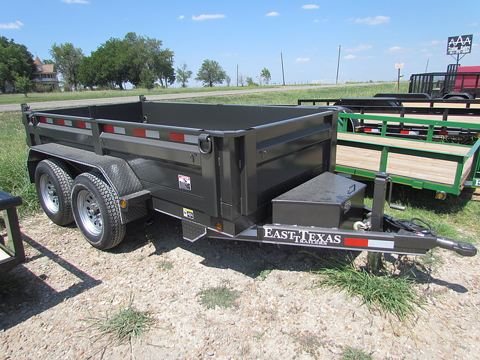 "East Texas Trailers Bumper Pull 83"" X 10'  with 2-7000lb Axles"