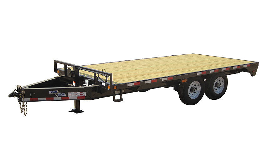 "2014 Load Trail 102"" X 24' Standard Pintle Hook   2-7,000 lb Axles"