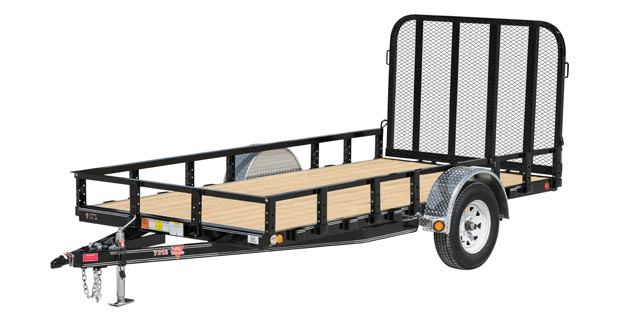 PJ Trailers 72 in. Single Axle Channel Utility (U2)