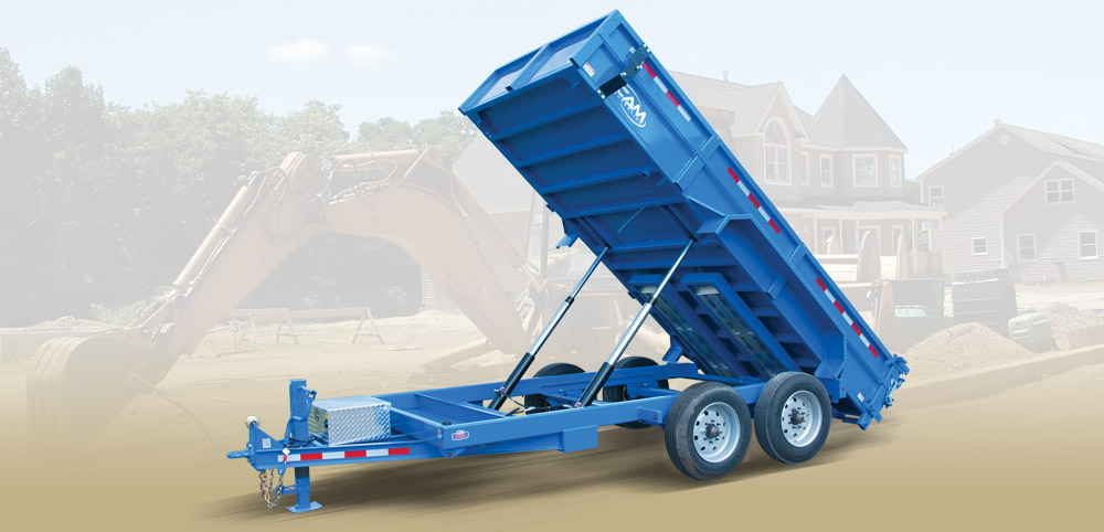 2018 Cam Superline 8 Ton Low Profile Heavy Duty Dump Traile