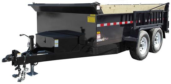 Car Mate Trailers CM612D-CS(10K) Contractor Dump Trailer