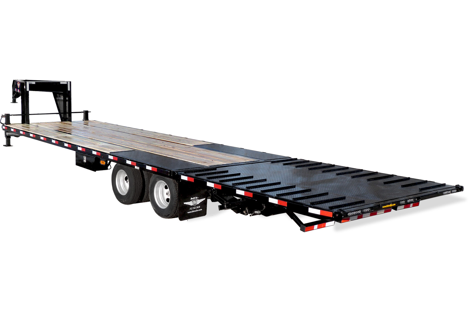 2020 H and H Trailer 25FT 19LB 20K GNLP STRAIGHT DECKOVER