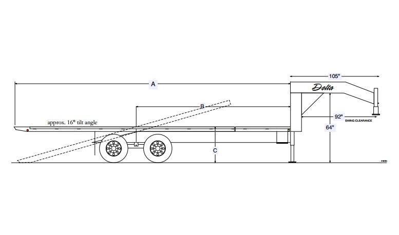 Single-Wheel Flatbeds 37GN Tri-Axle 7K Gooseneck | Hinshaw