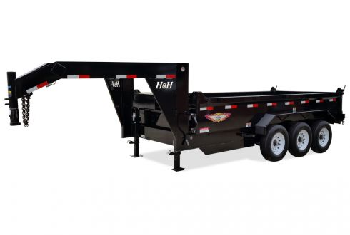 2020 H and H Trailer 82 IN X 16 LProfile 21K Goose Telescopic