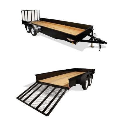 2018 H and H Trailer 8.5X18 STEEL SOLID SIDE TANDEM 7K