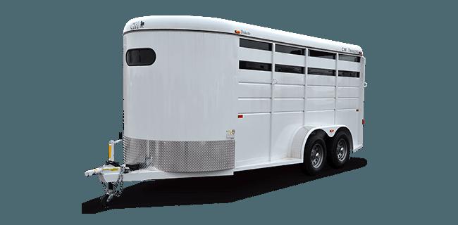 CM Trailers Dakota 2-horse, 14′ x 6'8″ x 7′ w/2-3500# axles w/1 brake, 15″ tires & 6-hole wheels