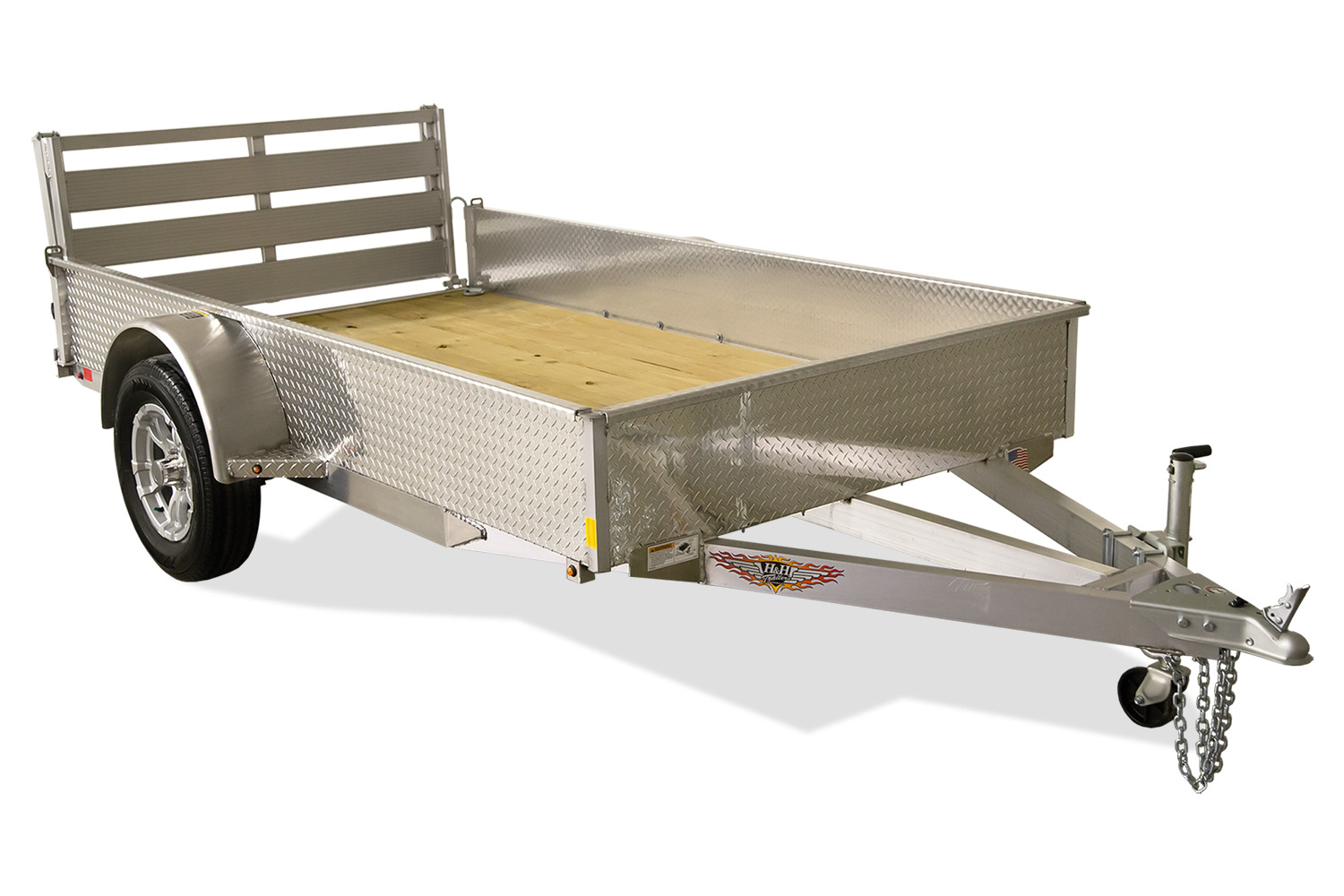 2020 H and H Trailer 8.5(82)X12 SOLID SIDE ALUM 3K