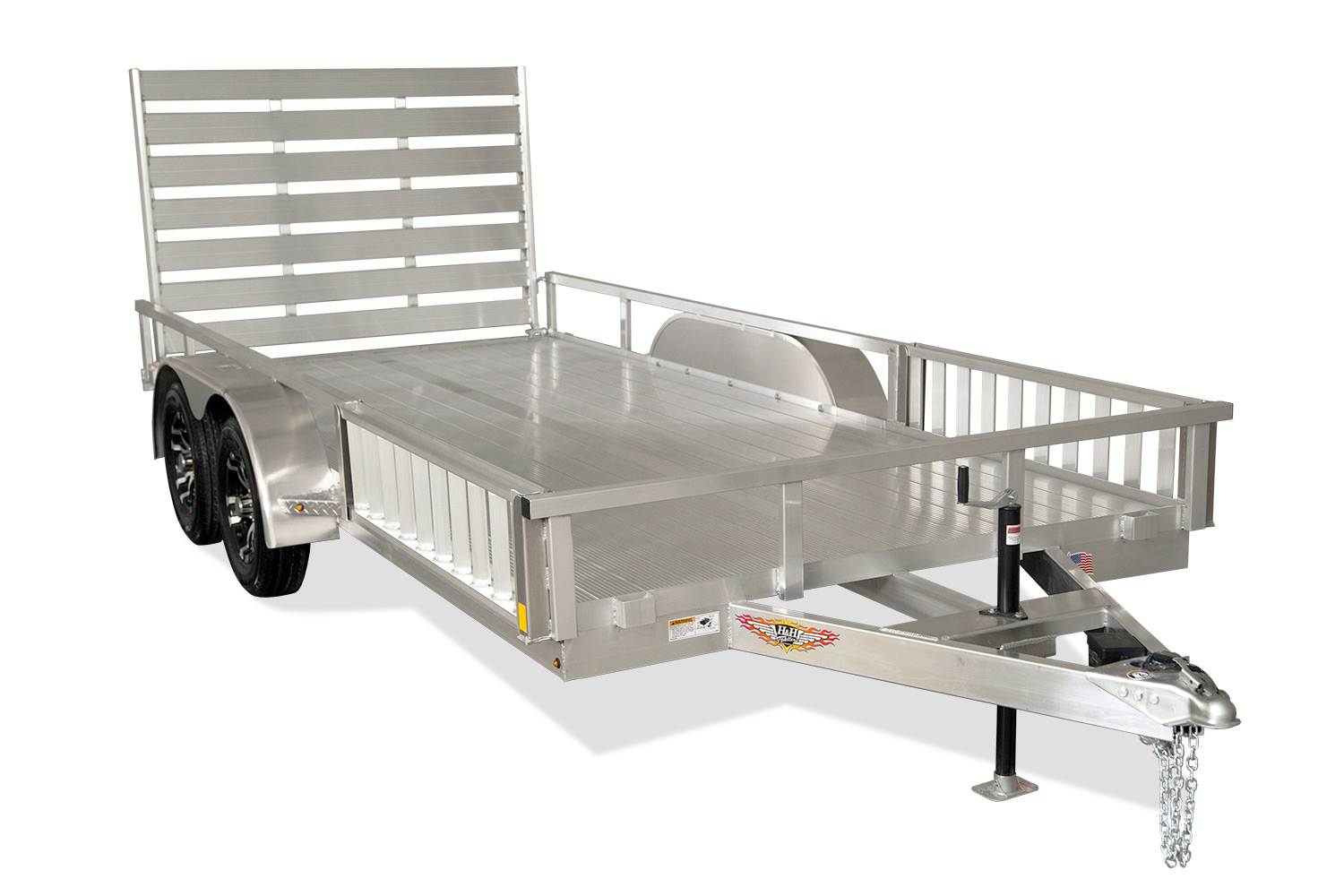 2020 H and H Trailer 8.5(82)X14 TANDEM ALUM RAILSIDE ATV 7K