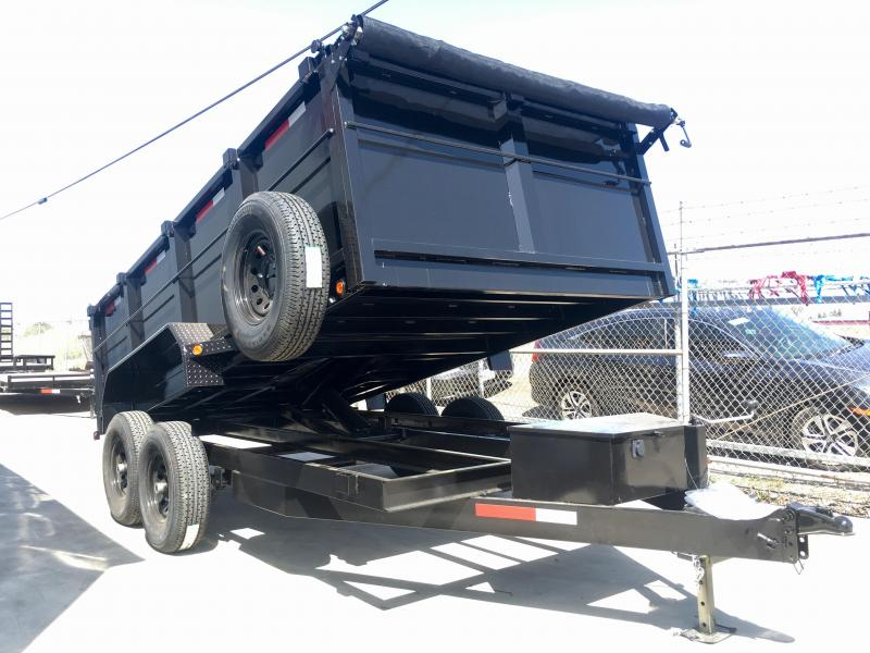 R & J Trailers Inc 7 x 14 14K 3' Walls Dump