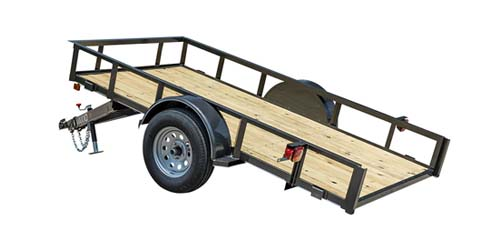 MAXXD G2M - White Series Single Axle Quick Tilt Utility Trailer